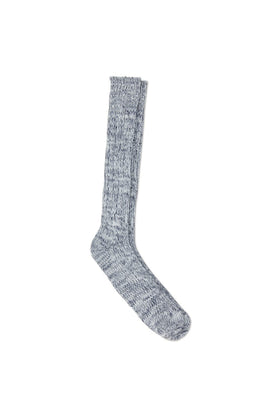 Marine Wool Blend Rib Boot Sock