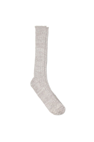 Oatmeal Wool Blend Rib Boot Sock