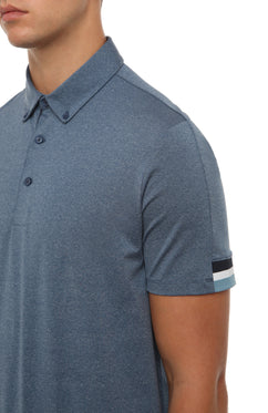INDIGO TIPPING SLEEVE POLO