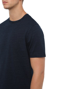 INDIGO SLUB COTTON T-SHIRT