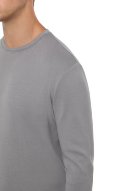 LIGHT CLAY RIB LONG SLEEVE T-SHIRT
