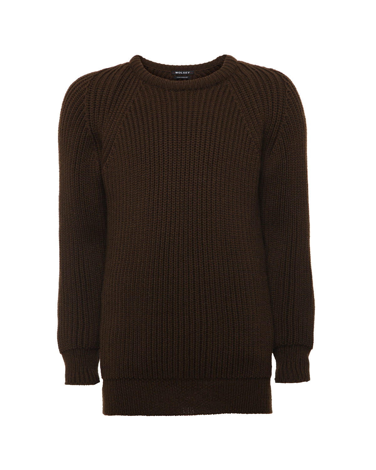 HUNTER WOOL FISHERMANS RIB SWEATER