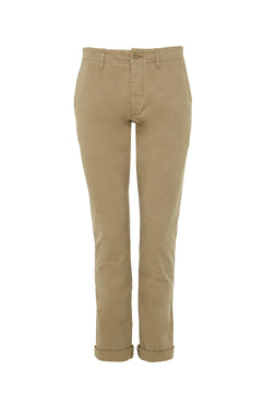KHAKI COTTON CHINO