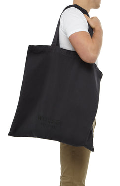 Navy Brush Cotton Tote
