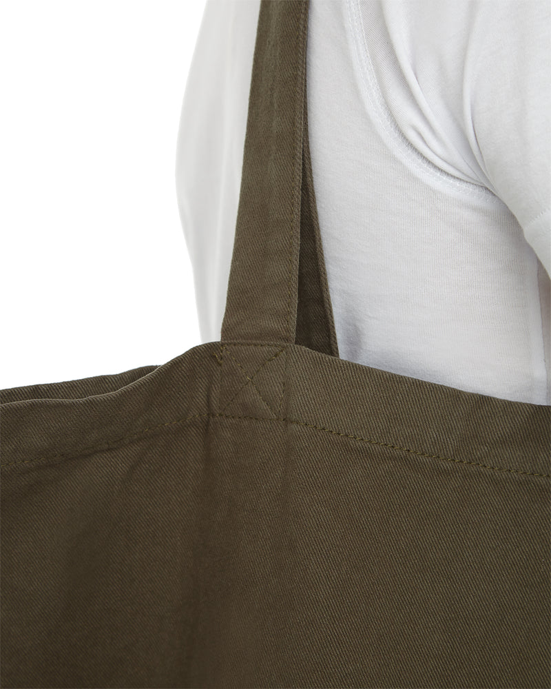 Olive Brush Cotton Tote