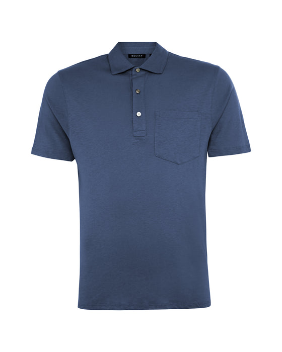 Chambray Cotton / Linen Polo