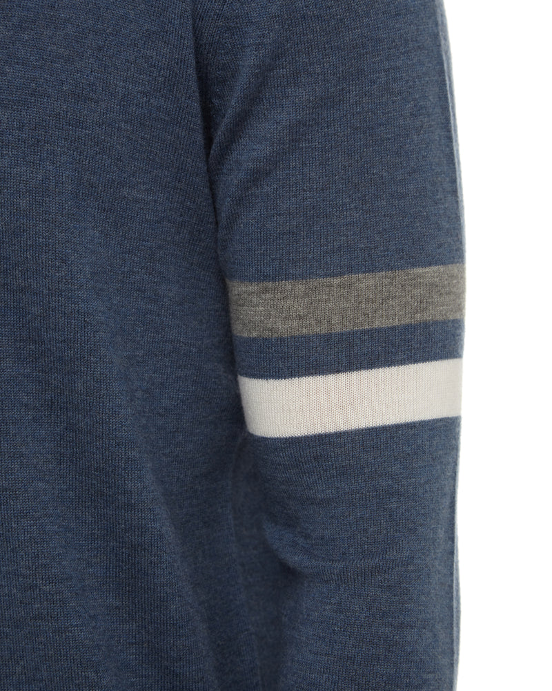 Airforce Sleeve Stripe Sweater