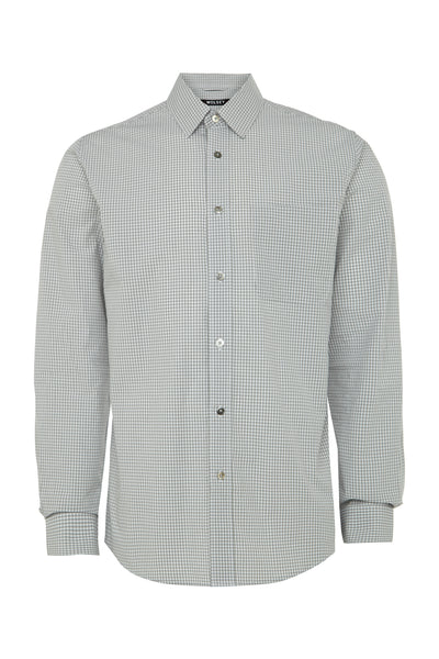 Grey Marl Melange Gingham Shirt