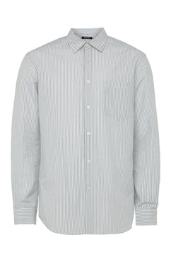 White Microticking Stripe Shirt