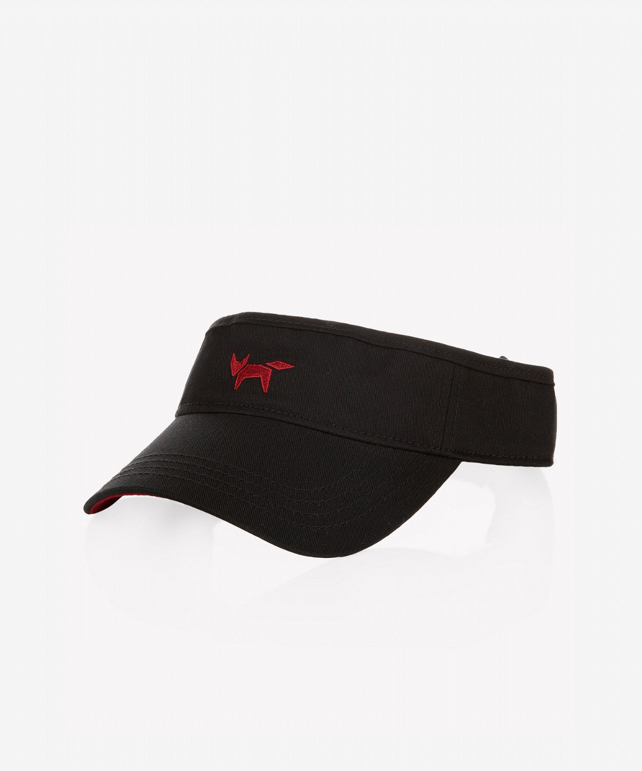 BLACK COTTON GOLF VISOR