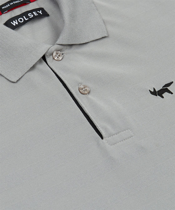 GRIFFIN TEXTURED STRIPE TWO BUTTON PIQUE POLO SHIRT