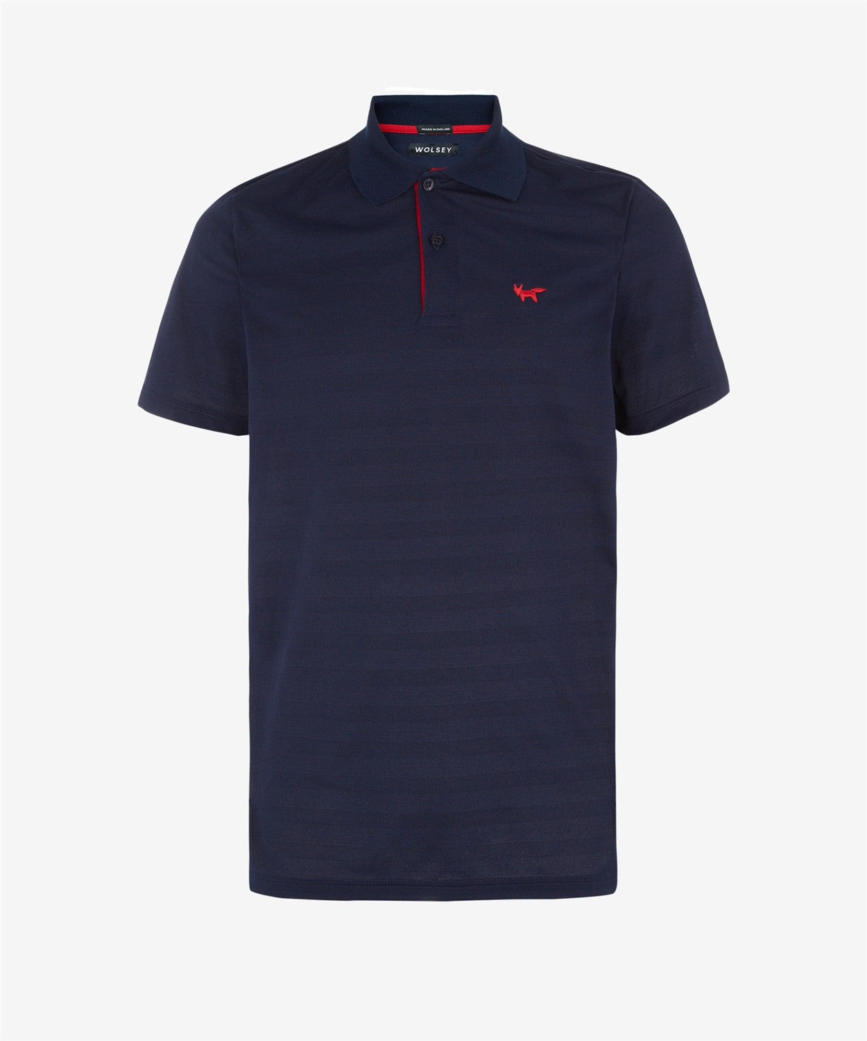 TOTAL ECLIPSE TEXTURED STRIPE TWO BUTTON PIQUE POLO SHIRT