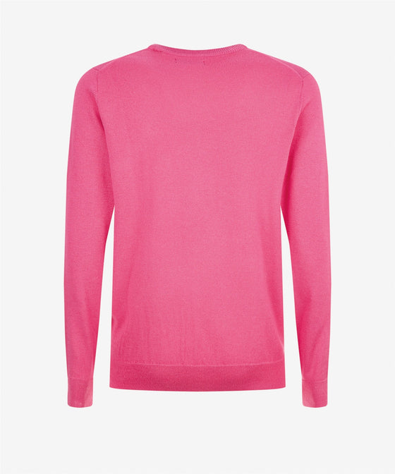 MAGENTA THERMOCOOL CREW NECK JUMPER