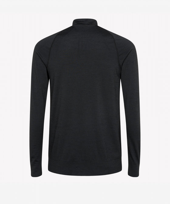 BLACK LONG SLEEVED TURTLE NECK PULLOVER