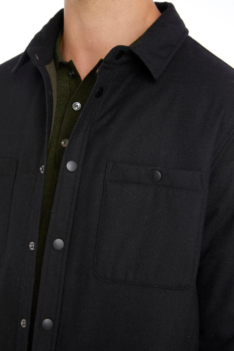 CHARCOAL INSULATED OVERSHIRT