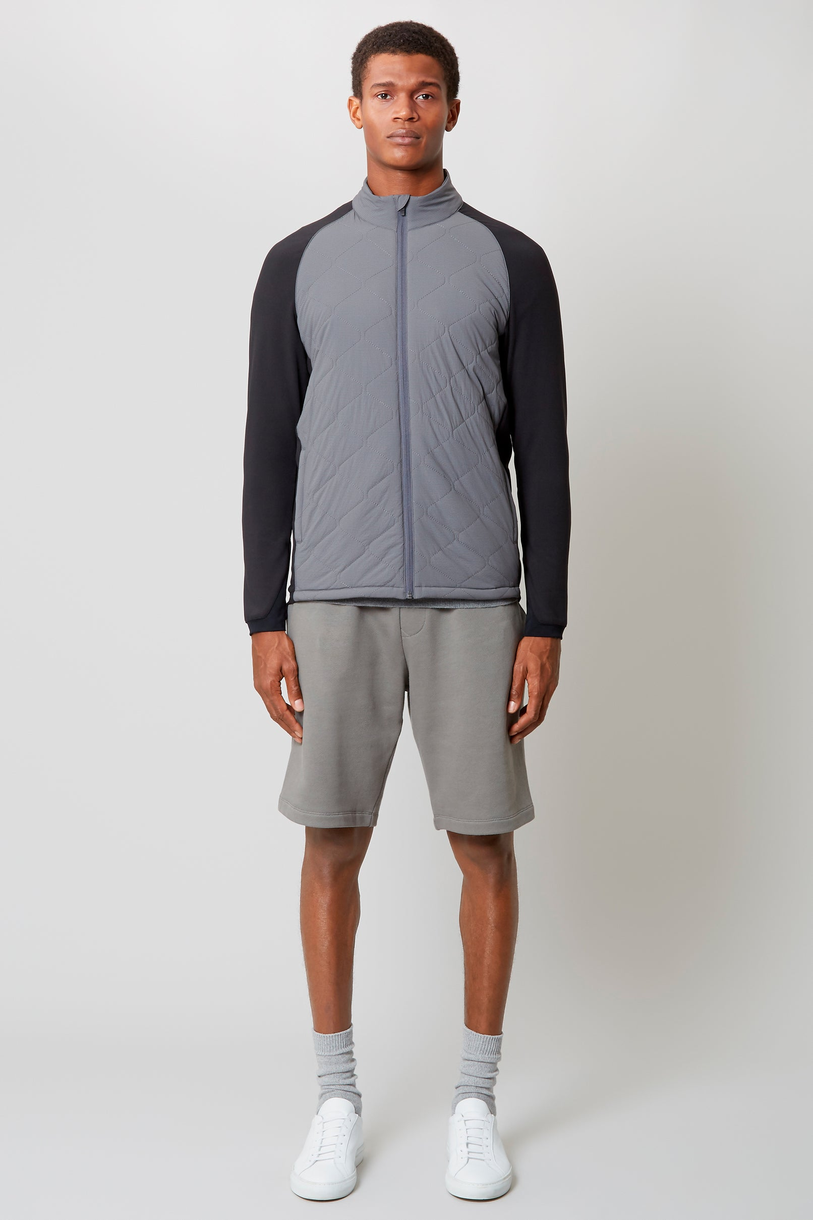 Grey Stretch Insulator Jacket Shell And Interlock Jersey