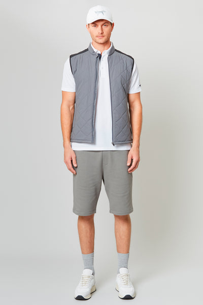 Grey Stretch Insulator Gilet Shell And Interlock Jersey