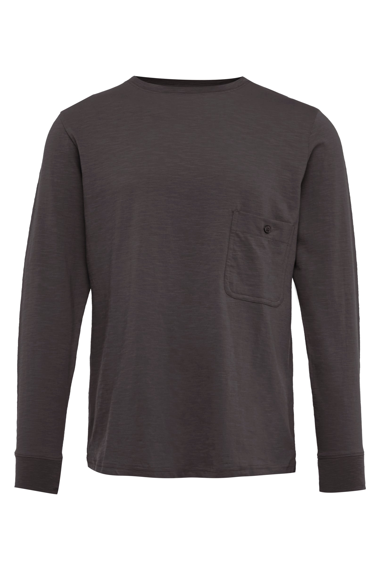 Charcoal Long Sleeve Cotton T-Shirt