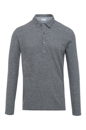 Grey Marl Long Sleeve Rugby Jersey
