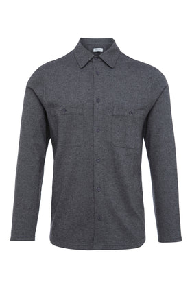 Grey Melange Jersey Shirt