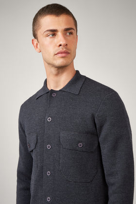 Charcoal Knit Overshirt