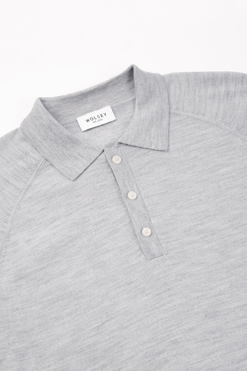 Light Grey Raglan Polo