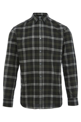 Charcoal Washed Herringbone Shirt
