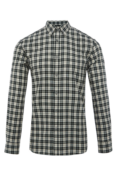 MILITARY COTTON TARTAN TWILL SHIRT