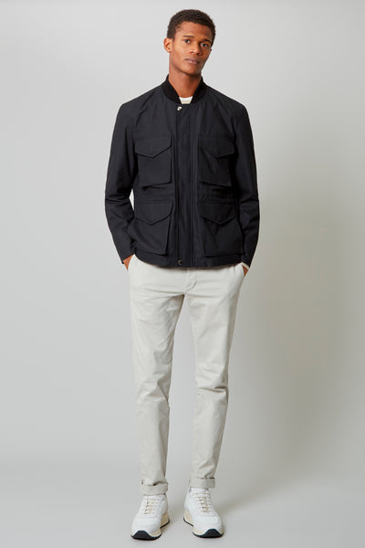 Black Bomber Field Jacket