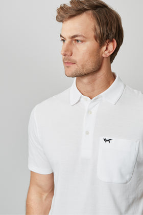 Off White Pique Polo