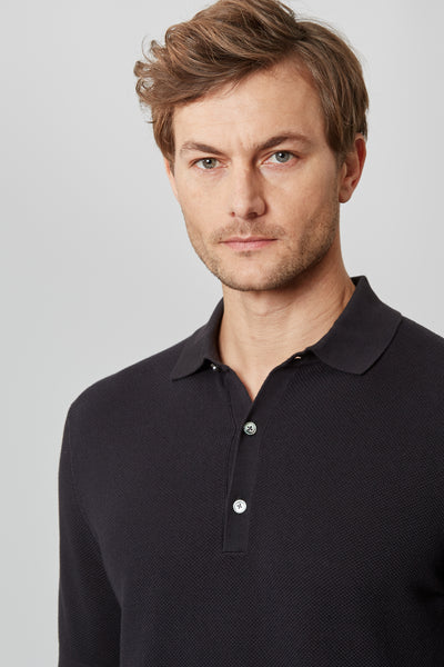 Black Knit Polo