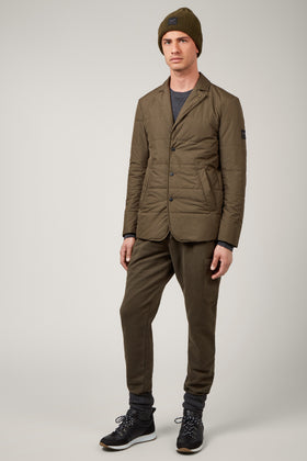 Army Green Packable Insulated Blazer