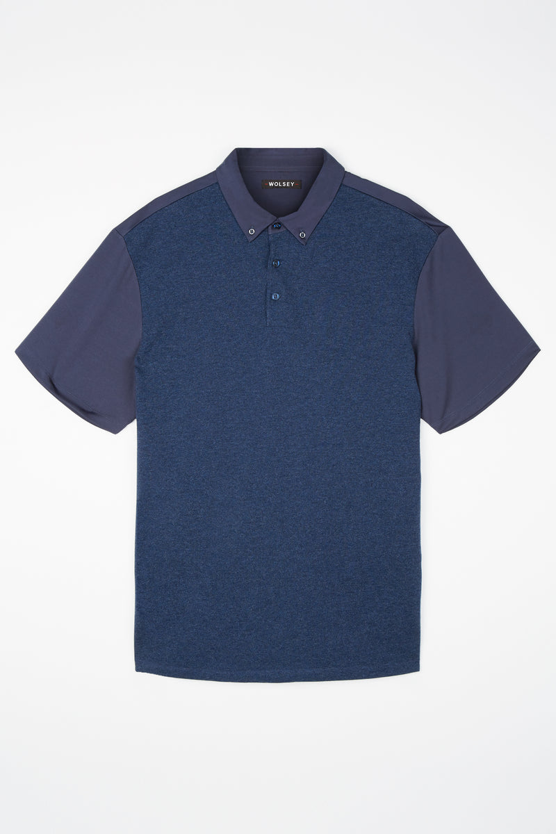 Total Eclipse Pique-Jersey Mix Polo