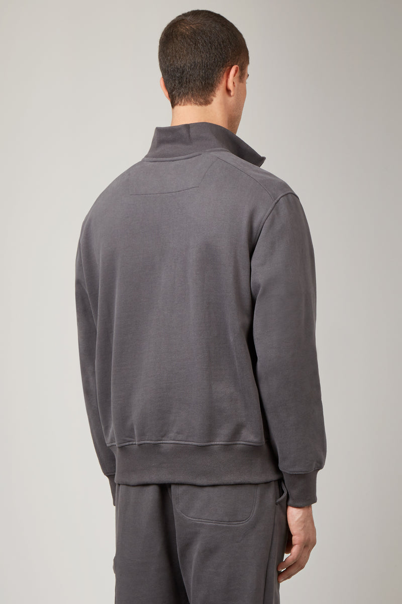 Charcoal Funnel Neck Sweatshirt