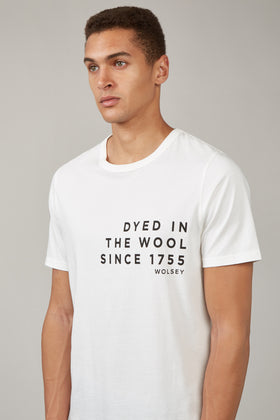 Off White Printed T-Shirt Dyed In The Wool