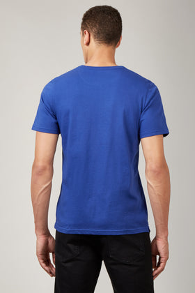 Electric Blue Printed T-Shirt