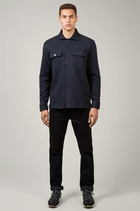 Navy Jersey Over Shirt