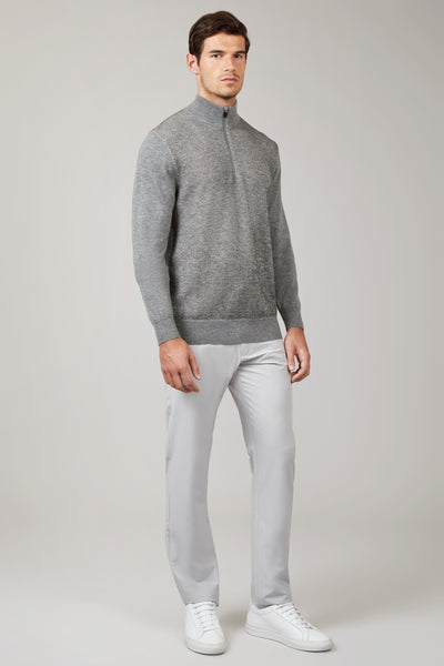 Grey Heather Twist Mix 1/4 Zip
