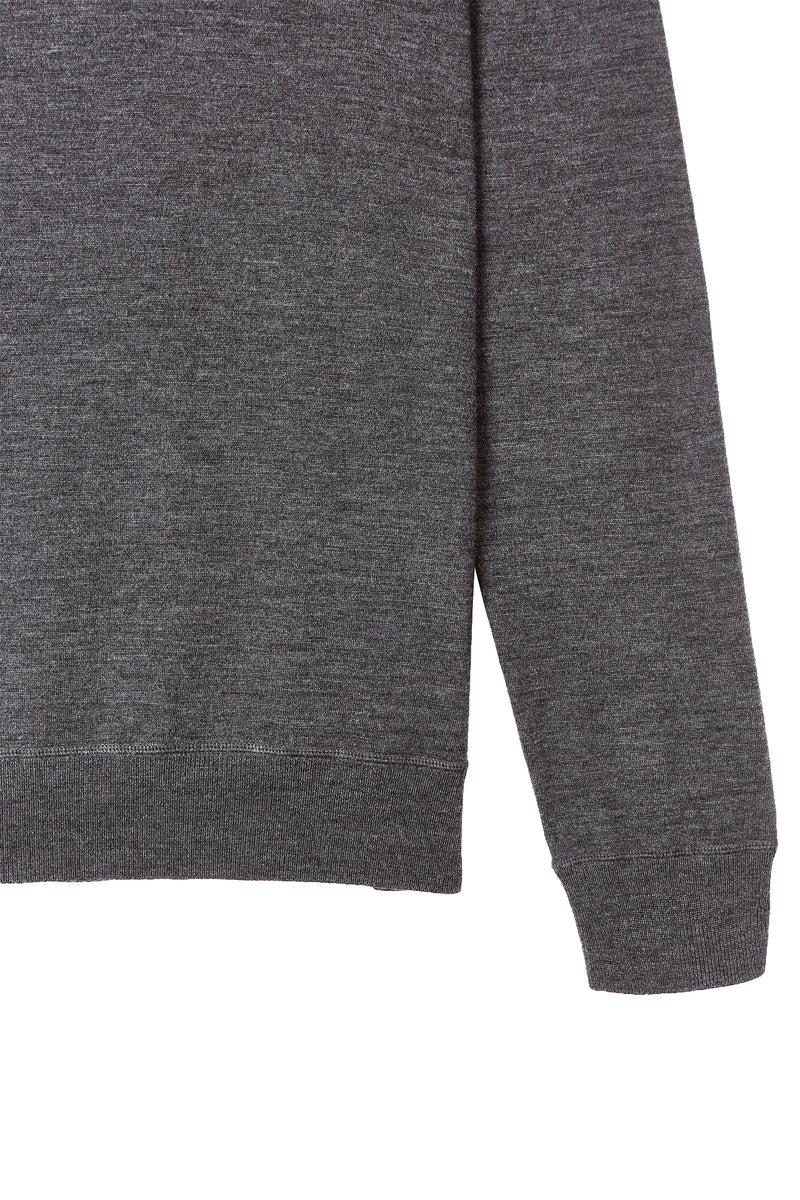 Charcoal Grey Merino Crew Neck