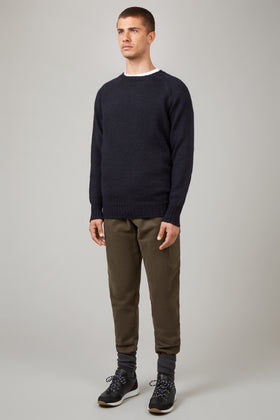 Navy Mountaineers Crew Neck