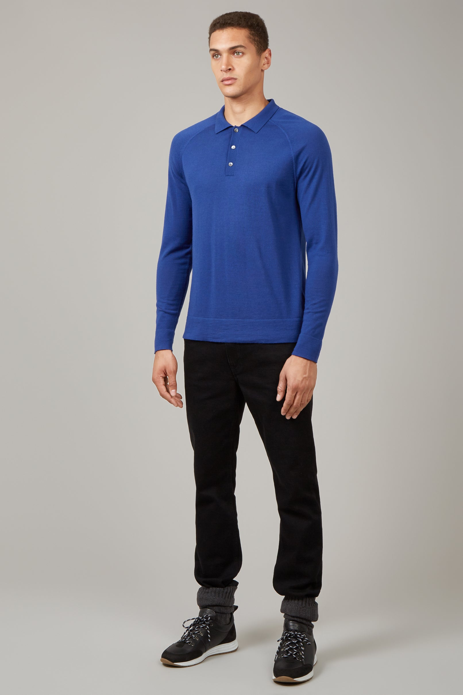 Electric Blue Raglan Polo