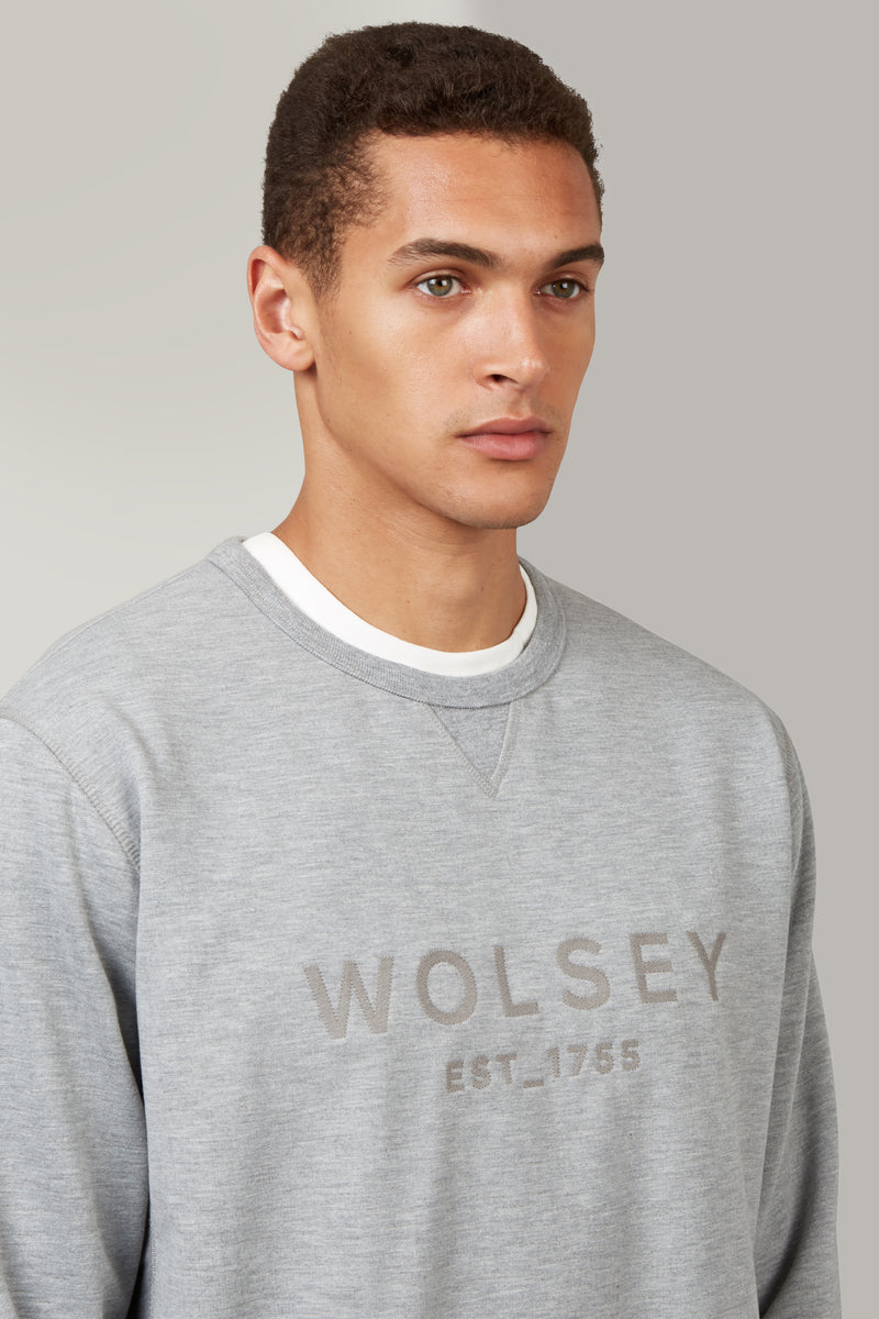 Grey Marl Plain Branded Sweatshirt