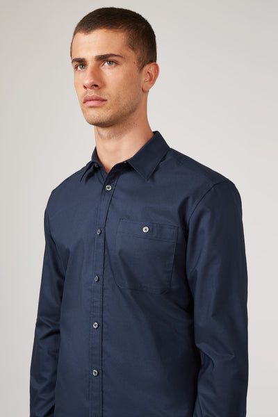 Navy Oxford Shirt