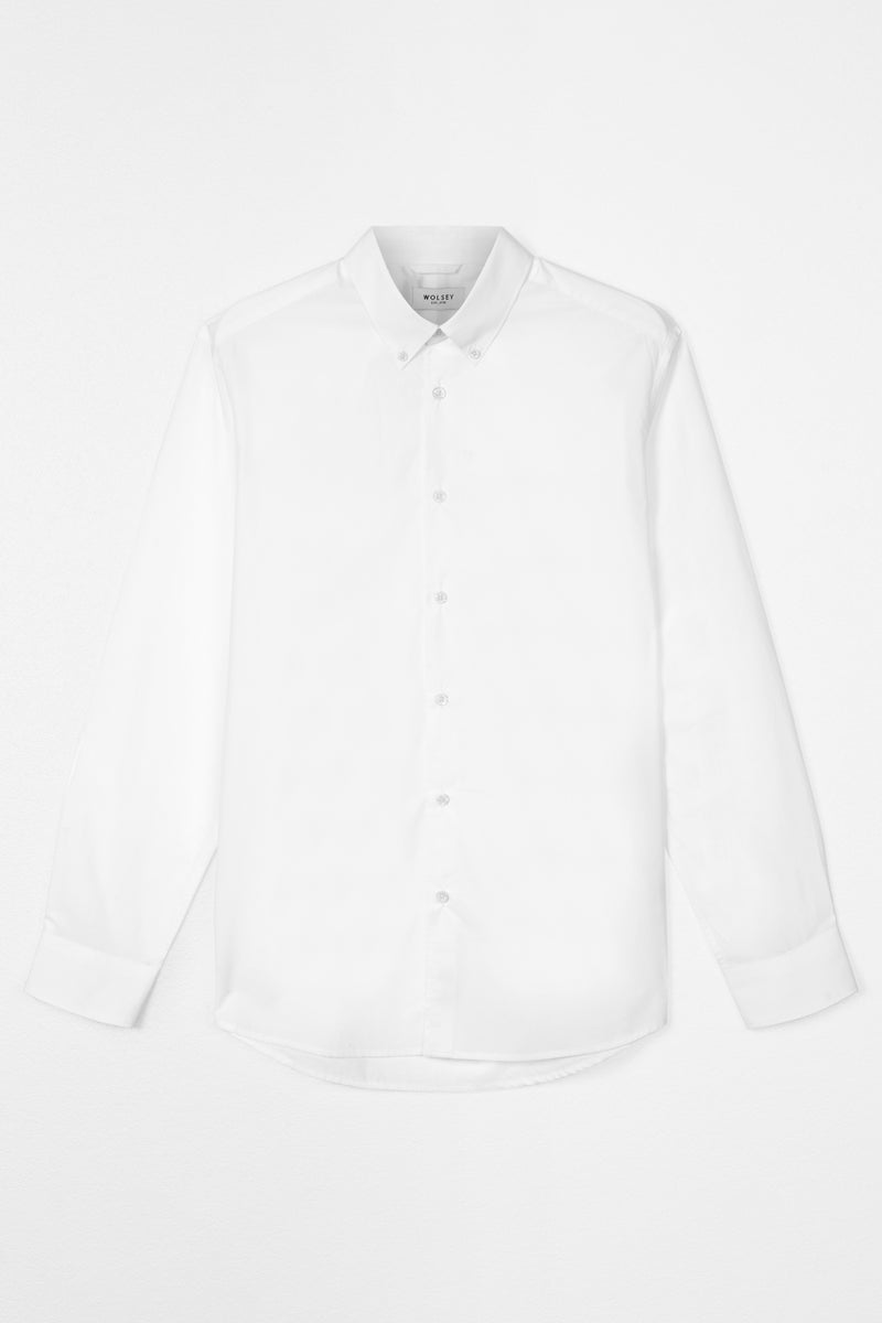 White Button Down Poplin Shirt