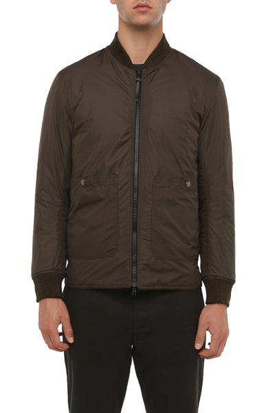 OLIVE REVERSIBLE LIGHTWEIGHT JACKET