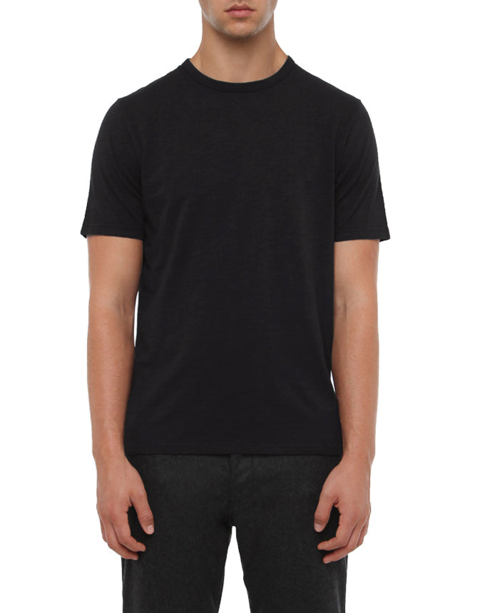 CHARCOAL SLUB COTTON T-SHIRT