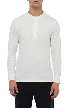 OFF WHITE SLUB COTTON HENLEY
