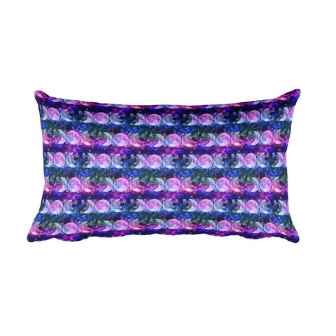 Triple Goddess Moons and Stars Rectangular Pillow - Black Wolf Siren