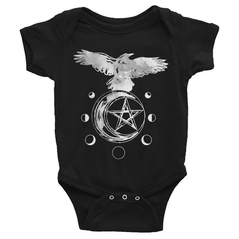 Raven Moon Phase Infant Bodysuit