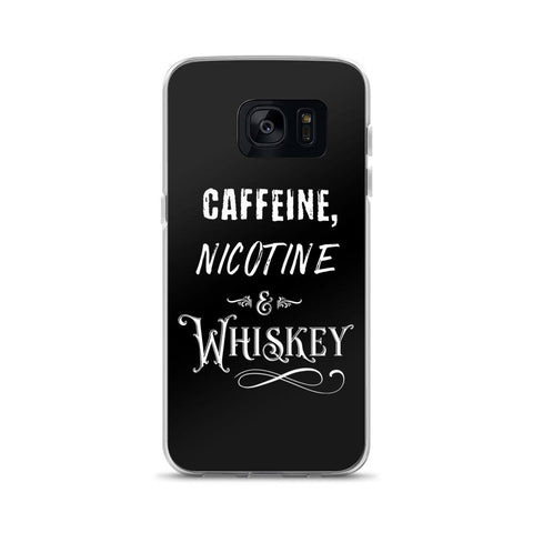Caffeine, Nicotine and Whiskey Samsung Case